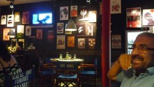 Pizzería en Camaguey, tematizada sobre cine, especialmente cubano.
